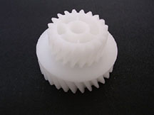Helical composite gear